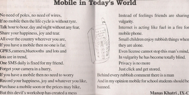 """Mobile Phone in today's world"""
